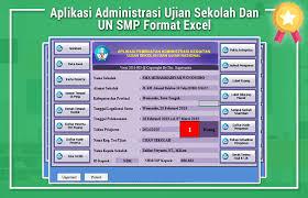 format absensi ujian aplikasi administrasi ujian sekolah dan un smp format excel ujian