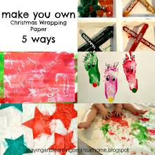 make your own wrapping paper and learning begins at home make your own christmas