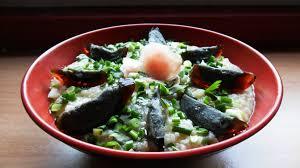 la cuisine de fabrice congee porridge de riz cantonais aux oeufs de cent ans dans la