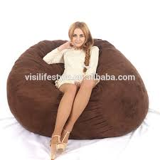 fashion modern microsuede soft sofa large round lazy 5ft beanbag