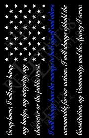 Thin Blue Line Flag I Back The Police Blue Line American Flag Sublimated T Shirt