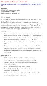 Etl Developer Resume Etl Developer Responsibilities Simple Resignation Letter Uk Fre