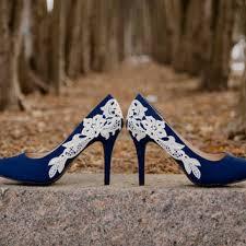 wedding shoes navy wedding shoes royal blue wedding heels from walkinonair on