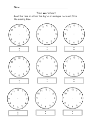 telling time to the hour worksheets worksheets for kids u0026 free