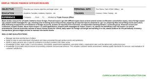 trade finance officer cover letter u0026 resume
