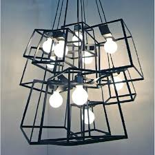 Drum Light Pendant Modern Cube Box Frame Pendant Lights Geometric Pendant Ls