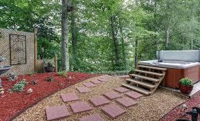 Backyard Pebble Gravel Paving Stone Ideas Patio U0026 Walkway Designs Designing Idea