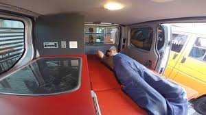 renault trafic interior camper conversion renault trafic by custom campers youtube