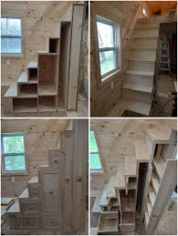 house stairs tiny house stairs with storage shelves and pantry tinyhome io