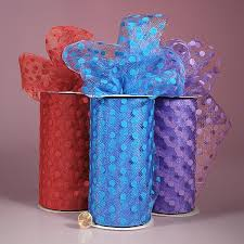 tulle rolls polka dot tulle rolls supplies tutu wraps and gift
