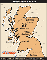 Blank Map Of Scotland Printable by Map Of Scotland In Macbeth Chart