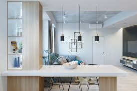small modern apartment design applying with a coloring and neutral