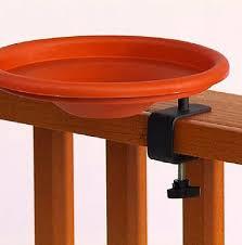 slot n pin deck mount bird bath deck rail mount bird bath