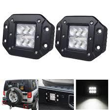 amazon com ijdmtoy complete set yellow lens fog lights foglamp flush mount led lights truck