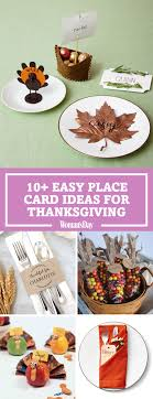 10 diy thanksgiving place cards craft ideas for fall table name