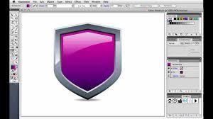 tutorial illustrator glass quick tip create a shiny shield using illustrators tutorial m4v