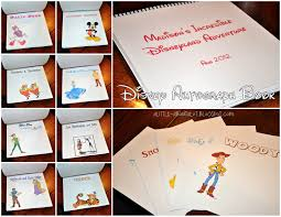 personalized autograph books a about a lot disney diy autograph book
