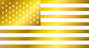 Us Flag Vector Free Download Usa Flag Vector American Flag Gold Icons Creative Market