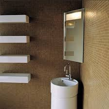 bathroom ideas modern corner bathroom sink with shelf under