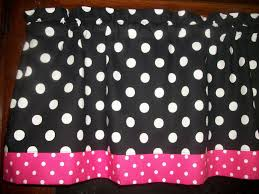 And Black Fabric For Curtains Black White Pink Polka Dot Hello Minnie Micky Mouse Fabric