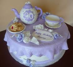90th birthday cakes tea party cake for 90th birthday cake by roscoebakery cakesdecor