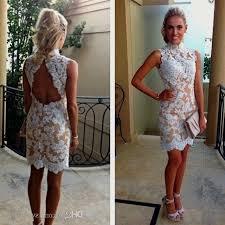 short white backless lace dress naf dresses