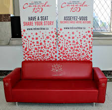 The Red Sofa The Red Couch Tour Have A Seat And Share Your Story Canada150