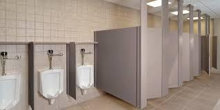 Commercial Bathroom Design Half Of Commercial Height Feet Restrooms Asi Mirror Walls