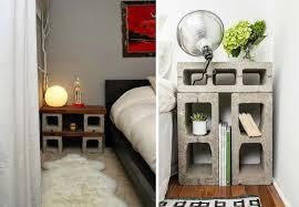 decoration des chambres de nuit idées originales pour créer une table de chevet pas cher design