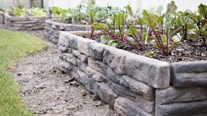 Raised Rock Garden by Install Ledgestone Raised Garden Bed On Vimeo
