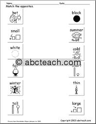 opposite worksheets for kindergarten u0026 free worksheets opposite