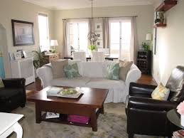 Living Room Dining Room Ideas by Long Living Room With Fireplace In Middle Living Room Decoration