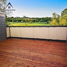 amazon com alion home hdpe privacy screen for patio deck