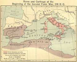 Map Of The World Bc by Map Of The Second Punic War 218 Bc