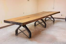 Live Edge Boardroom Table Rouille Live Edge Conference Table U2013 Vintage Industrial Furniture