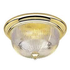 westinghouse 3 light ceiling fixture polished brass interior flush