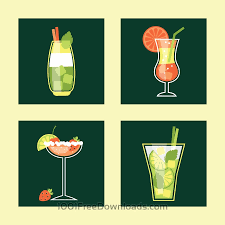 cocktail illustration free vectors cocktail icon set vector illustration abstract