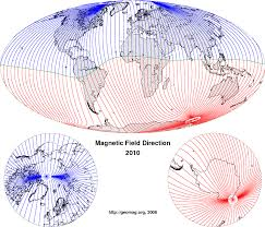 magnetic declination map historical field change and declination