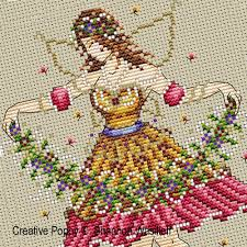 shannon christine designs garden cross stitch pattern