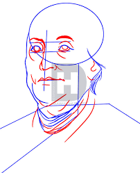 how to draw benjamin franklin step by step by darkonator