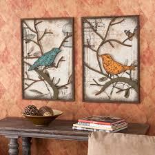 Piece VINTAGE Metal BIRD Wall ART Panel Frame Sculpture DESIGNER - Wall art designer