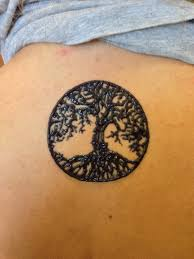 tree of henna on the back ink