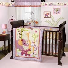 Crib Bedding Jungle Lavender And Pink Jungle Safari Baby Nursery Zebra 3pc Zoo
