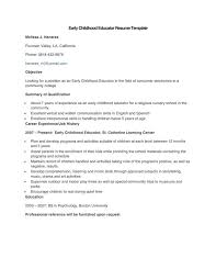 Early Childhood Education Resume Template Teacher Resume Template Download Free U0026 Premium Templates Forms