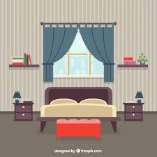 home interior vector bedroom interior vector free