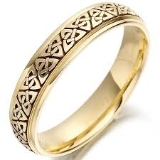 mens celtic wedding bands wedding ring mens gold knot celtic wedding band at
