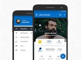 Material Design Ideas Linkedin Android Material Design Materialup