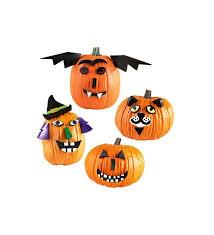 clever pumpkin pumpkin decorating kit with 24 wooden facial features craft kits