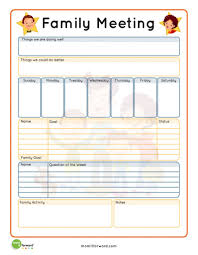 Free Staff Meeting Agenda Template by Strengthening Family How To Set Up A Family Meeting