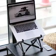 mac laptop holder for desk nexstand k2 laptop stand portable adjustable eye level ergonomic